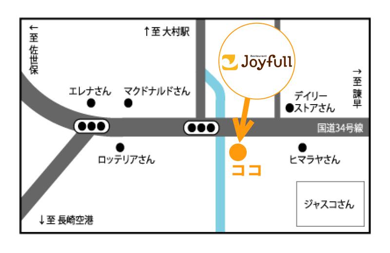 ジョイフル(大村店) 地図